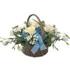 Baby Blue Basket Arrangement